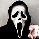 I take on the role of Mr. Ghostface, but first, let me take a selfie.