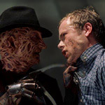 Freddy Krueger gets his hands on Brendan Fletcher in Freddy vs. Jason.