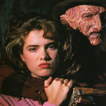 Heather Langenkamp and Robert Englund in A Nightmare on Elm Street.