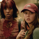 Canadian Scream Queen Katharine Isabelle (right) stars in Freddy vs. Jason alongside popstar Kelly Rowland.